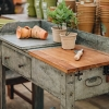 Galvanised Potting Table, work surface