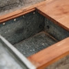 Galvanised Potting Table, storage compartment