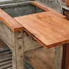 Galvanised Potting Table, extendable work surface
