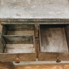 Galvanised Potting Table, inside of drawers