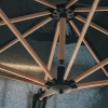 Oak Challenger Square Free Arm Parasol 3m in Faded Black - springs detail