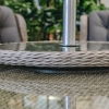 Chadlington Elliptical Set - parasol and table detail