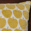 Light-yellow Apple printed cushion in 50x50cm from Burford Garden Company