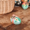 Small Almond & Sea Salt Truffle Eggs - in floral pastel green pattern