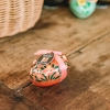 Small Hazelnut Crunch Truffle Eggs - in Red with White Flowers