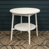 Classic Lloyd Loom Round Coffee Tables in Snow White