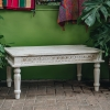 Bobbin Ivory Indian Coffee Table with matching chairs