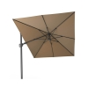 T2 Challenger Taupe Oblong Free Arm Parasol (3.5x2.6m)