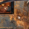 Corten Steel Water Feature, Square, detail of edge