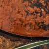 Corten Steel Water Feature, Low Drum, detail of patination