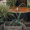 Corten Steel Water Feature, Low Drum