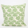 Gingko Cushion in pastel green from Afroart