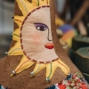 Sunny Art Doll, detail of sun embroidered on neck