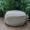 Large Dotty Round Pouf in Beige
