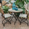 Folding Teak Garden Chair, with Small table, not included