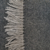 Lambswool Throw Charcoal- Detail