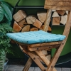 Pepper Quilted Seat Pads, in Dusty Turquoise
