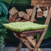 Pepper Quilted Seat Pads, in Moss Green