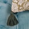Shimla Olive Cushion, detail of tassel