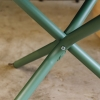 Sage Green Tris Low Table, folded