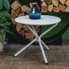 Tris Low Table in White from Burford Garden Company