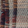 All Wool Picnic Throw - Navy Fringing  Detail