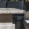 Antigua Lounge Set in Stone Grey - adjustable dining table detail