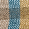 Celtic Weave All Wool Throw - Blue and, Ochre and Paprika Swatch Detail