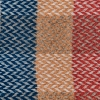 Celtic Weave All Wool Throw - Blue and Red Swatch Detail