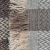 Celtic Weave All Wool Throw - Natural Fringing Detail