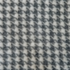 Burford Houndstooth Throw Charcoal - Swatch Detail