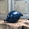 Large Ceramic Pecking Guinea Fowls in Blue and Black