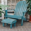 Lounger Chair and Stool in Blue