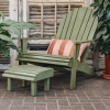 Lounger Chair and Stool in Chartwell Green