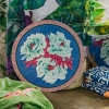 Large Blue Garden Placemats in Pervinch
