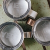 Yeti Rambler Mug in Copper, Silver and White (14oz) - Regular Lid Detail