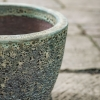 Green Round Volcano Pot Small - Detail