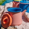 Colorama Teapot - Soft Pink and Coral