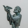 Chaim Stephenson: Noah and the Dove, detail of head and hands
