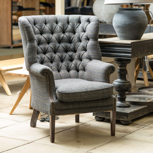 Mackenzie Tweed Wing Chair – Wintercheck