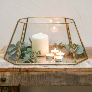 Morvi Lantern - Antiqued Brass