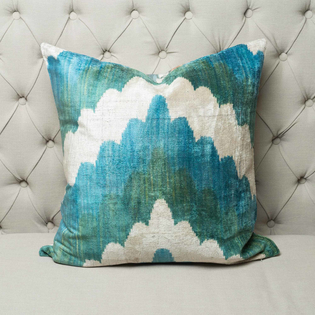 Lucky Dip Suzani Ikat Cushion – Square front