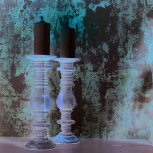 Akello Mango Wood Candlestick (sold singly