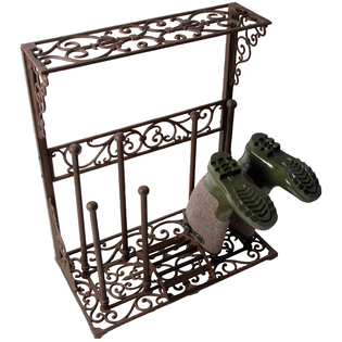 Ornate Cast Iron Boot Rack