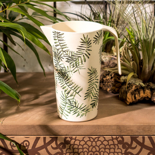 Bamboo Palm Tree Pitcher