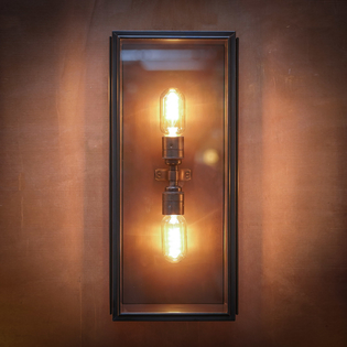Birch Wall Light Bronze Large Twin