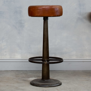 Narwana Leather Bar Stool