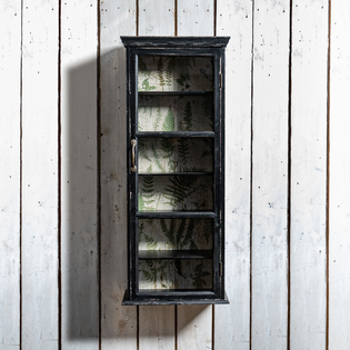 Brookby Black Glass Fronted Wall Cabinet Narrow