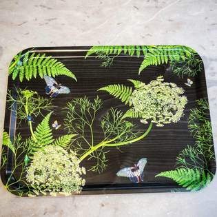Black Dill Birchwood Rectangular Tray