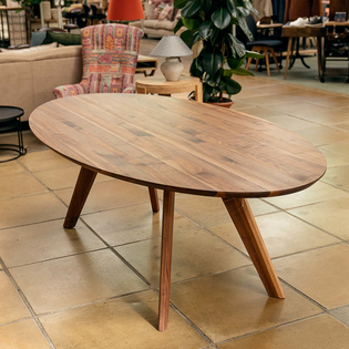 Crete Oval Walnut Dining Table
